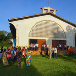AF 455 - DR Congo, Parish church in Tumikia