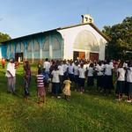 AF 454 - DR Congo, Parish church in Tumikia
