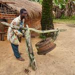 AF 453 - DR Congo, Church bell in Matundu village